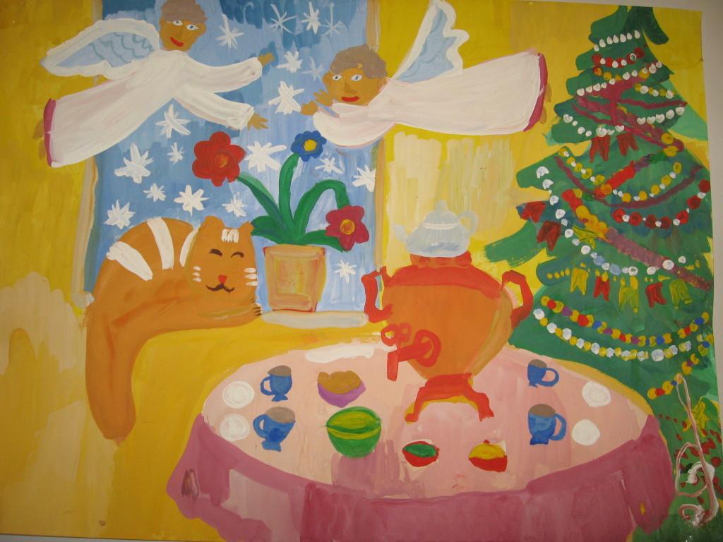 Рисунок «Рождество дома»