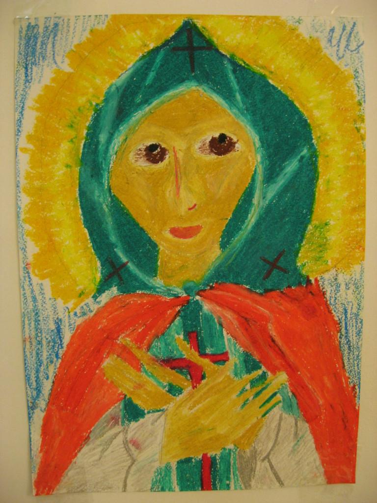 рисунок «Святая Аполлинария»